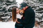 Mikaela, Kyle & Puppy Winston // Northern Minnesota Winter Photographer